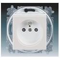 Zásuvka jednonásobná s ochranným kolíkem, s clonkami šedá/bílá ABB Levit 5519H-A02357 16