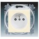 Zásuvka jednonásobná s ochranným kolíkem, s clonkami slonová kost/bílá ABB Levit 5519H-A02357 17