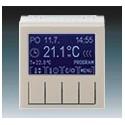 Termostat univerzální programovatelný (ovládací jednotka) macchiato/bílá ABB Levit 3292H-A10301 18