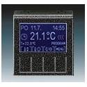 Termostat univerzální programovatelný (ovládací jednotka) onyx/kouřová černá ABB Levit 3292H-A10301 63