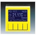 Termostat univerzální programovatelný (ovládací jednotka) žlutá/kouřová černá ABB Levit 3292H-A10301 64