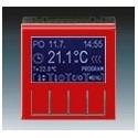 Termostat univerzální programovatelný (ovládací jednotka) červená/kouřová černá ABB Levit 3292H-A10301 65