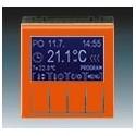 Termostat univerzální programovatelný (ovládací jednotka) oranžová/kouř. černá ABB Levit 3292H-A10301 66