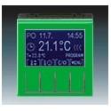 Termostat univerzální programovatelný (ovládací jednotka) zelená/kouř. černá ABB Levit 3292H-A10301 67