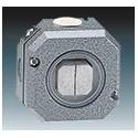 Přepínač dvojitý střídavý, řazení 6+6, Al, IP66 šedá ABB Garant 3558-52750