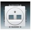 Kryt zásuvky komunikační jasně bílá ABB Swing 5014G-A01018 B1