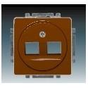 Kryt zásuvky komunikační hnědá ABB Swing 5014G-A01018 H1